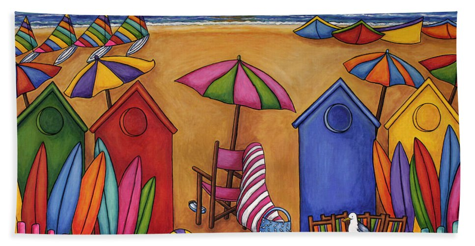 Summer Beach Towel featuring the painting Summer Delight by Lisa Lorenz