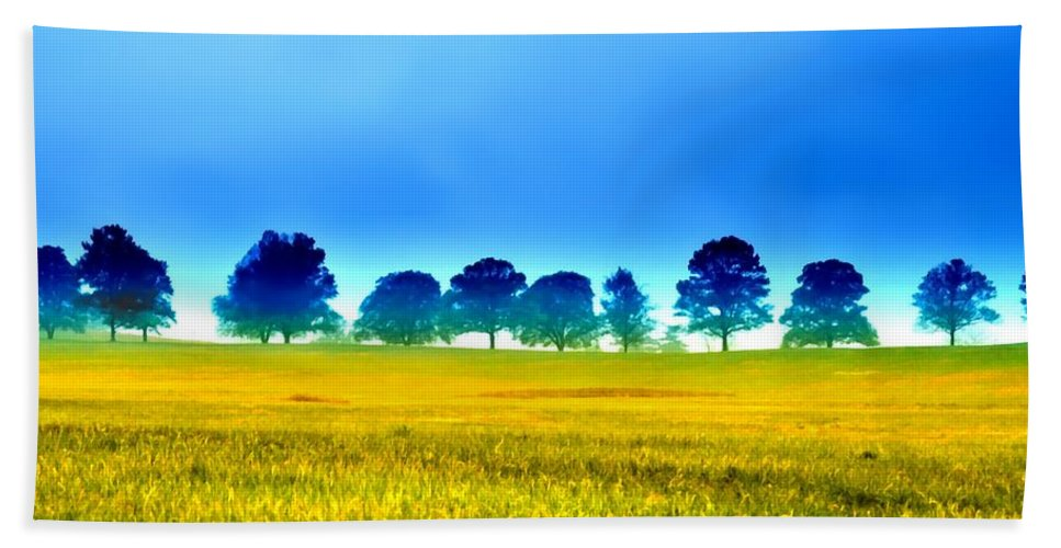 Valley Beach Towel featuring the photograph Summer Field by Bill Cannon
