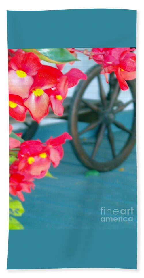 Flowers Beach Towel featuring the photograph Summer Flowers by Line Gagne