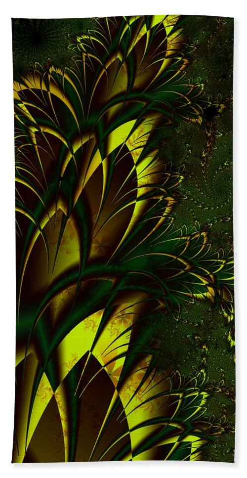 Digital Art Beach Towel featuring the digital art Summer Frenzy by Amanda Moore