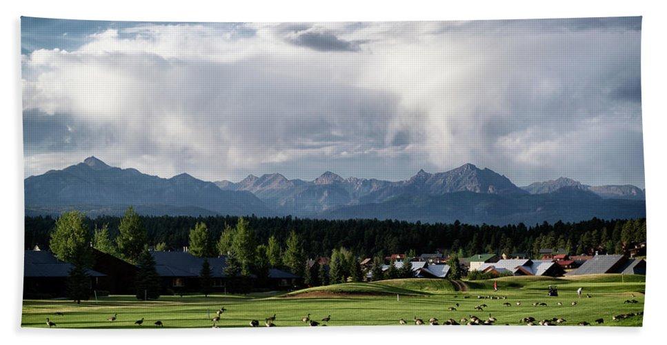 Landscape Beach Towel featuring the photograph Summer Mountain Paradise by Jason Coward