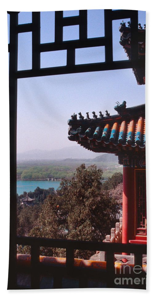 China Beach Towel featuring the photograph Summer Palace Or Yi He Yuan by Sandra Bronstein