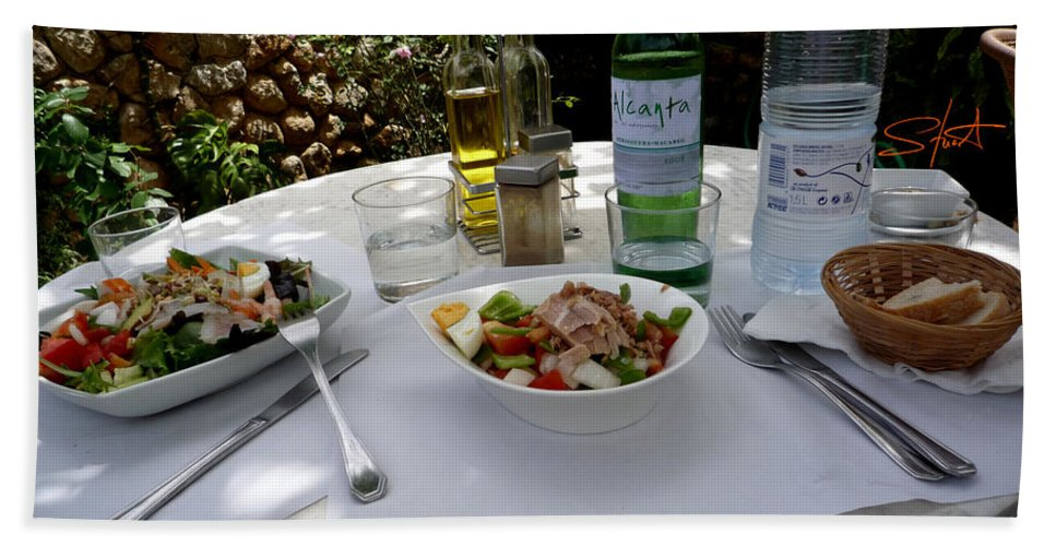 Lunch Beach Sheet featuring the photograph Summer Salad by Charles Stuart