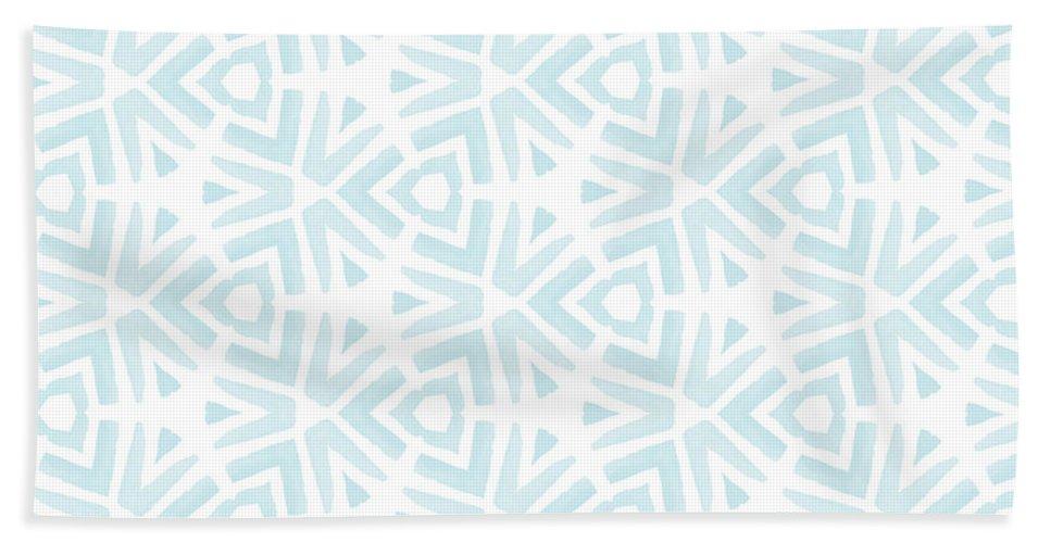 Pattern Beach Towel featuring the digital art Summer Splash- Pattern Art by Linda Woods by Linda Woods