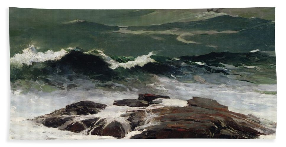 Summer Squall Beach Towel featuring the painting Summer Squall by Winslow Homer
