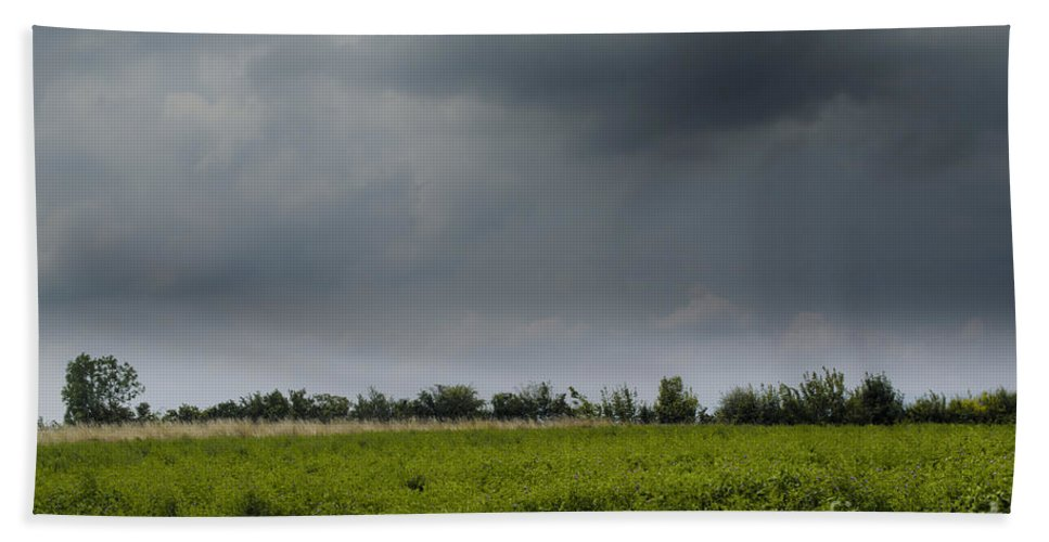 Michelle Meenawong Beach Towel featuring the photograph Summer Storm by Michelle Meenawong