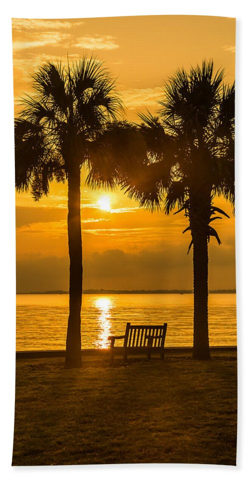 Sunrise Beach Towel featuring the photograph Summer Sunrise - Charleston Sc by Donnie Whitaker