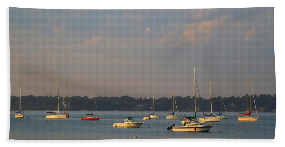 Sea Beach Towel featuring the photograph Summer Time At Little Neck Bay by Dora Sofia Caputo Photographic Design and Fine Art
