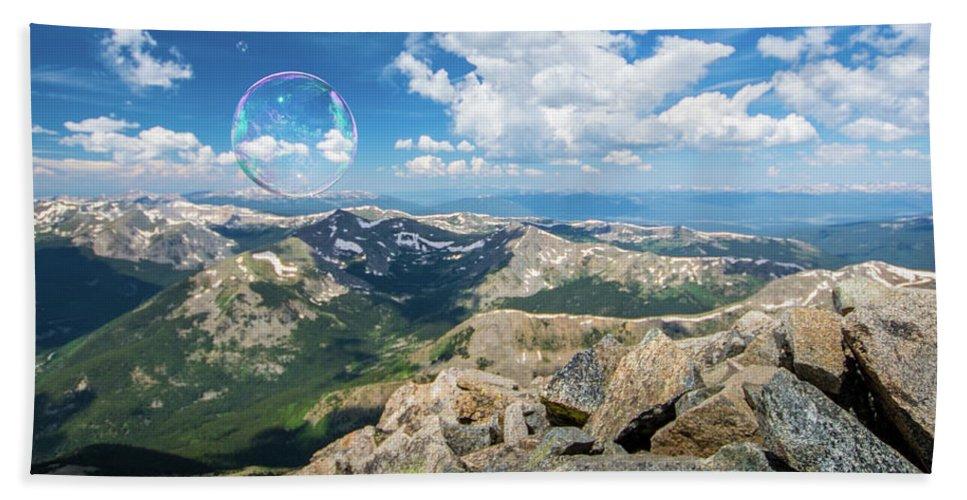Landscape Beach Towel featuring the photograph Summit Bubbles - Yale by Rob Lantz