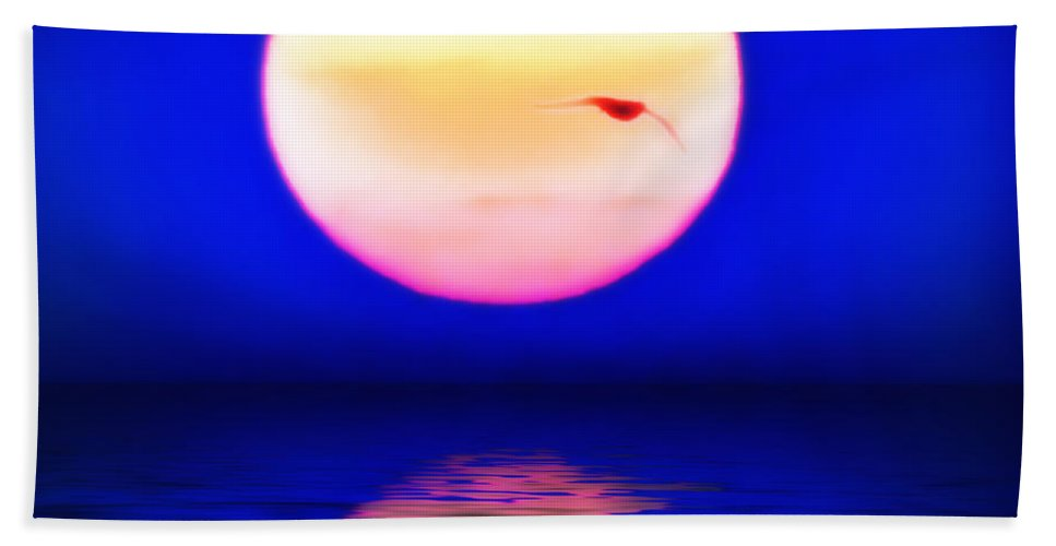 Sun Beach Towel featuring the photograph Sun And Water by Bill Cannon