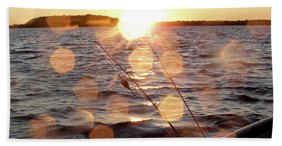 Sunset Beach Towel featuring the photograph Sun Drops by Angie Rea