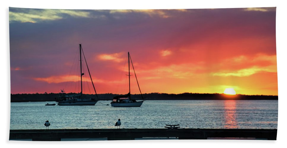 Amelia Island Beach Towel featuring the photograph Sun Gazing by Ed Waldrop