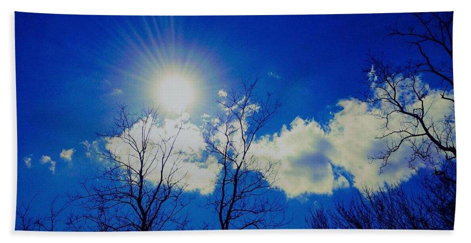 Blue Beach Towel featuring the photograph Sun Glow by Debra Lynch