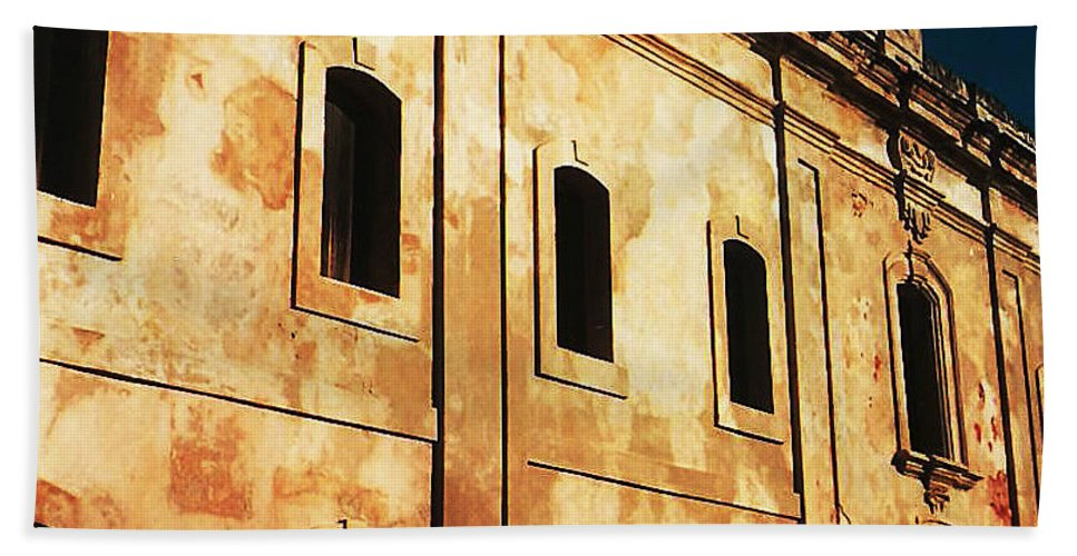 Buildings Beach Towel featuring the photograph Sun Kissed by Jeff Barrett