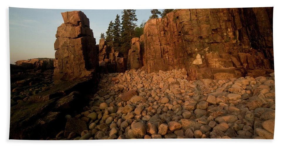 acadia National Park Beach Towel featuring the photograph Sun Kissed Morning by Paul Mangold