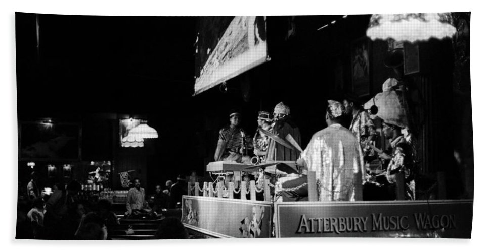 Jazz Beach Towel featuring the photograph Sun Ra Arkestra At The Red Garter 1970 Nyc 11 by Lee Santa