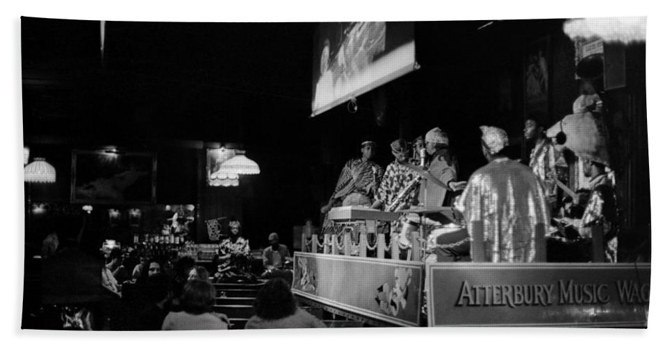 Jazz Beach Towel featuring the photograph Sun Ra Arkestra At The Red Garter 1970 Nyc 13 by Lee Santa