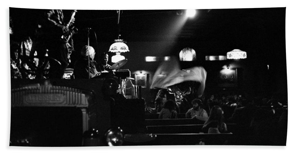 Beach Towel featuring the photograph Sun Ra Arkestra At The Red Garter 1970 Nyc 17 by Lee Santa