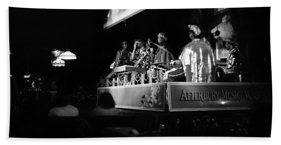 Jazz Beach Towel featuring the photograph Sun Ra Arkestra At The Red Garter 1970 Nyc 18 by Lee Santa