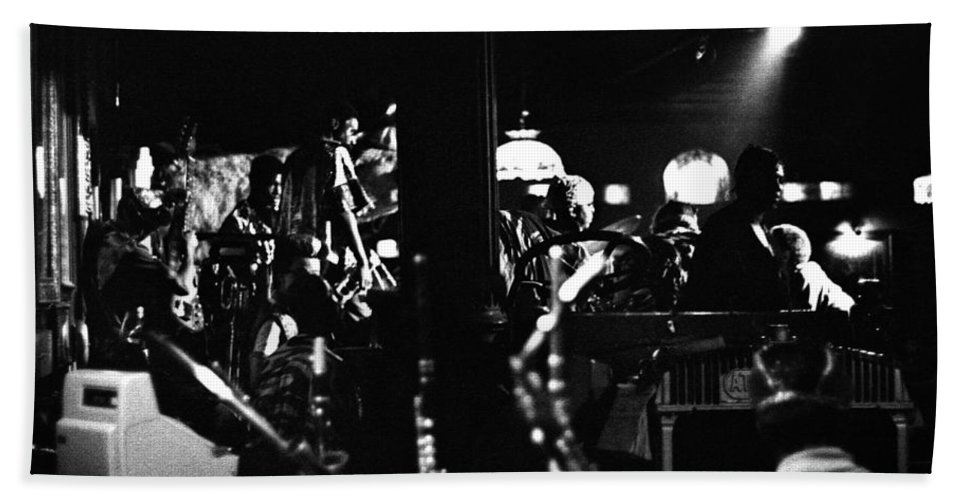 Beach Towel featuring the photograph Sun Ra Arkestra At The Red Garter 1970 Nyc 2 by Lee Santa