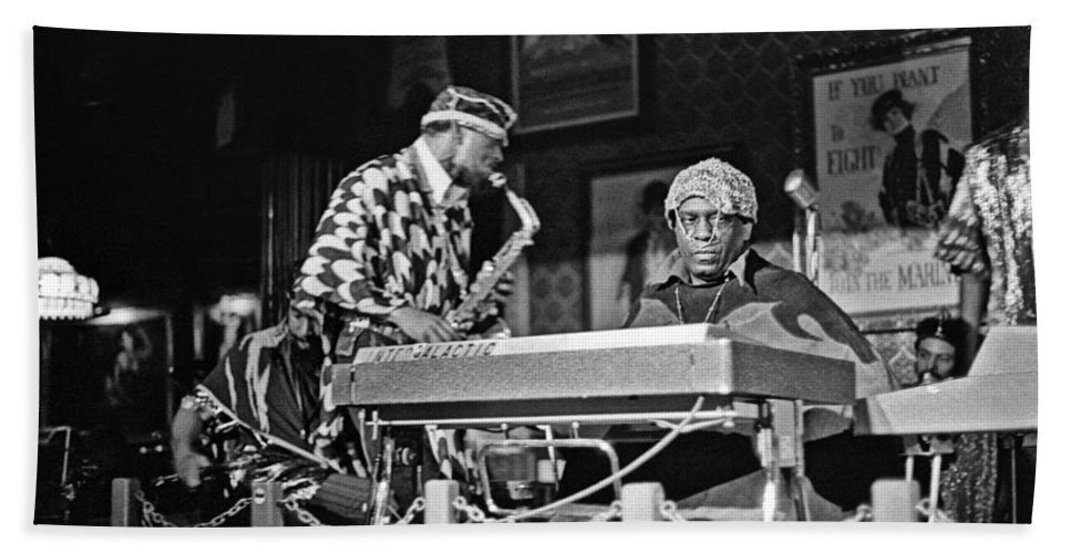 Jazz Beach Towel featuring the photograph Sun Ra Arkestra At The Red Garter 1970 Nyc 3 by Lee Santa