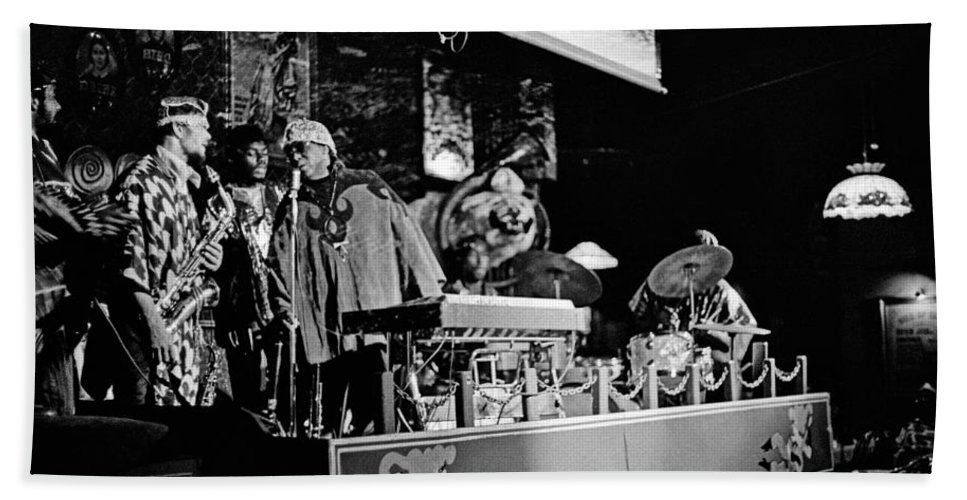 Jazz Beach Towel featuring the photograph Sun Ra Arkestra At The Red Garter 1970 Nyc 5 by Lee Santa