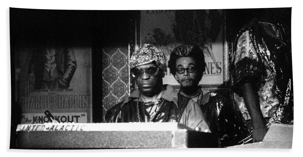Jazz Beach Towel featuring the photograph Sun Ra Arkestra At The Red Garter 1970 Nyc 8 by Lee Santa