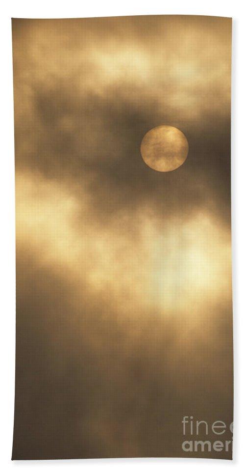 Sun Beach Towel featuring the photograph Sun Rising Through Fog by John Harmon