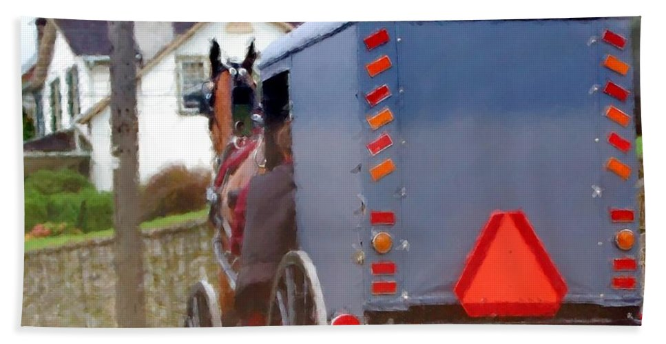 Amish Beach Towel featuring the photograph Sunday Courting by Debbi Granruth
