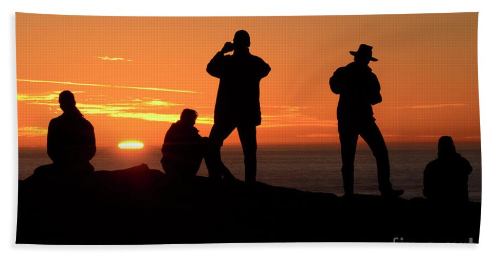 California Beach Towel featuring the photograph Sundown by Bob Christopher