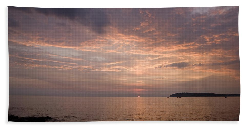 Sea Beach Towel featuring the photograph Sundown Over The Adriatic Coastline by Ian Middleton