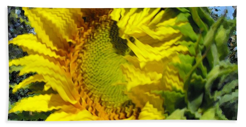 Kansas Beach Towel featuring the photograph Sunflower By Design by Concolleen's Visions Smith