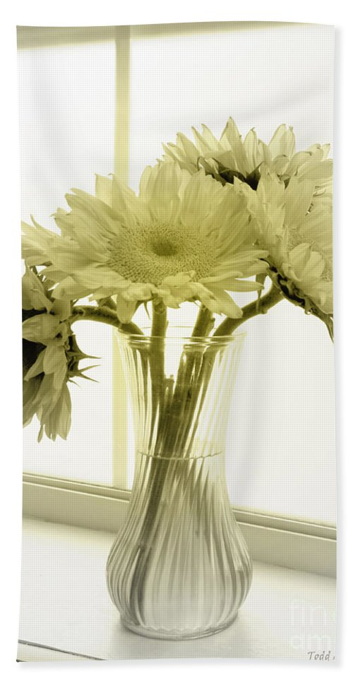 Sunflowers Beach Towel featuring the photograph Sunflowers by Todd Blanchard
