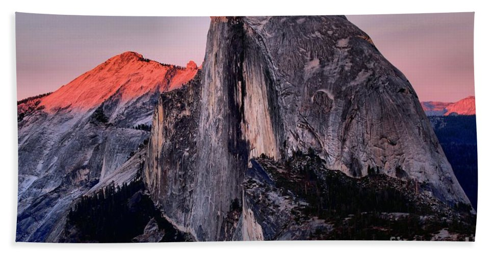 Half Dome Beach Towel featuring the photograph Sunkiss On Half Dome by Adam Jewell