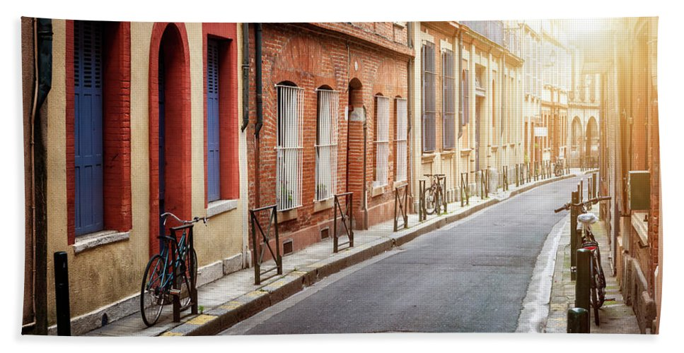Toulouse Beach Towel featuring the photograph Sunlight In Toulouse by Elena Elisseeva