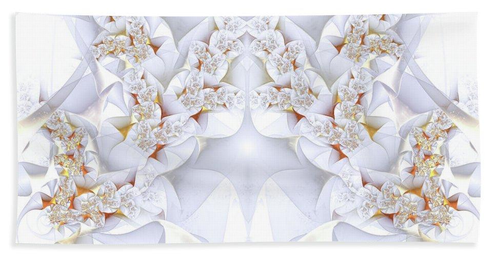 Sunlight Beach Towel featuring the digital art Sunlight On Ice by Amorina Ashton