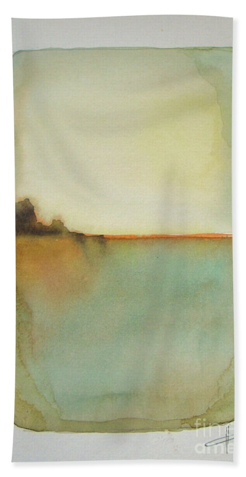 Abstract Beach Towel featuring the painting Sunny Day by Vesna Antic