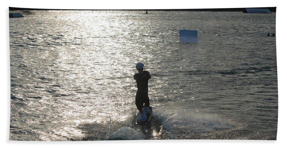 Sun Beach Towel featuring the photograph Sunny Waves by Rob Hans