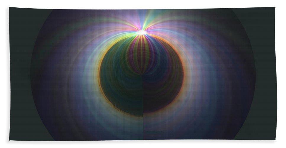 Sunrise Beach Sheet featuring the digital art Sunrise At 30k 2 by Tim Allen