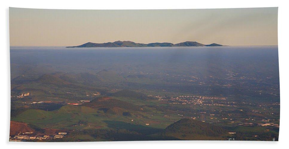 Fog Beach Sheet featuring the photograph Sunrise At Sao Miguel Island by Gaspar Avila