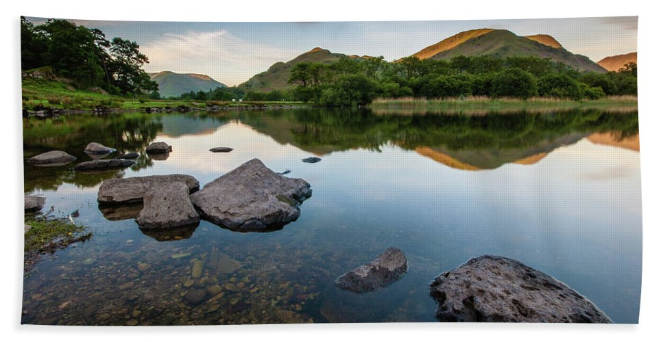 Lake District Beach Towel featuring the photograph Sunrise at Ullswater, Lake District, North West England by Anthony Lawlor