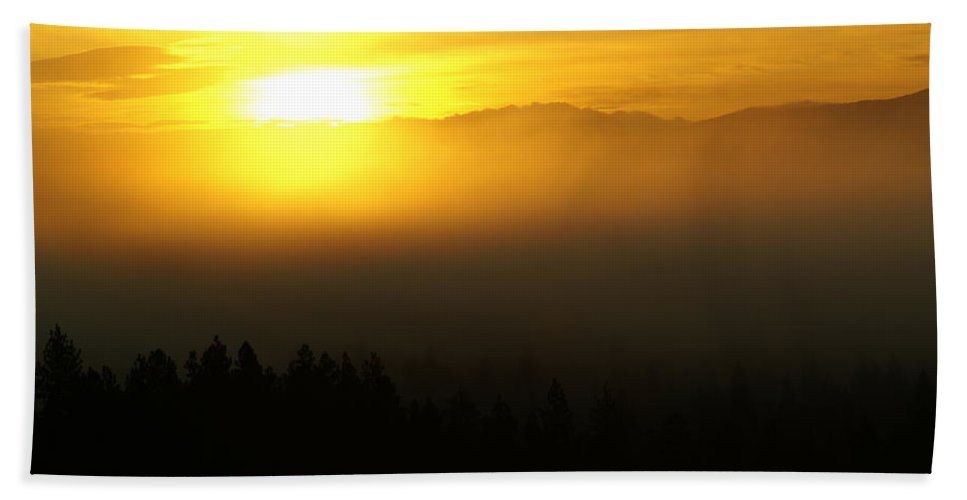 Nature Beach Towel featuring the photograph Sunrise by Ben Upham III