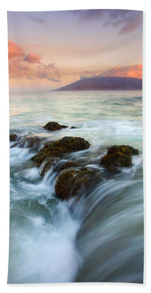 Sunrise Beach Towel featuring the photograph Sunrise Drain by Mike Dawson