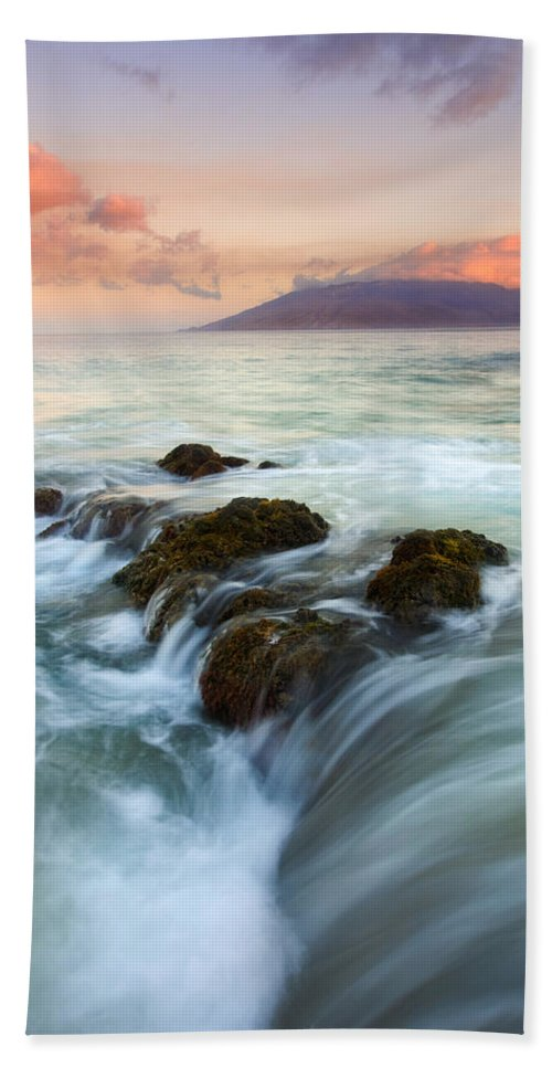Sunrise Beach Sheet featuring the photograph Sunrise Drain by Mike Dawson