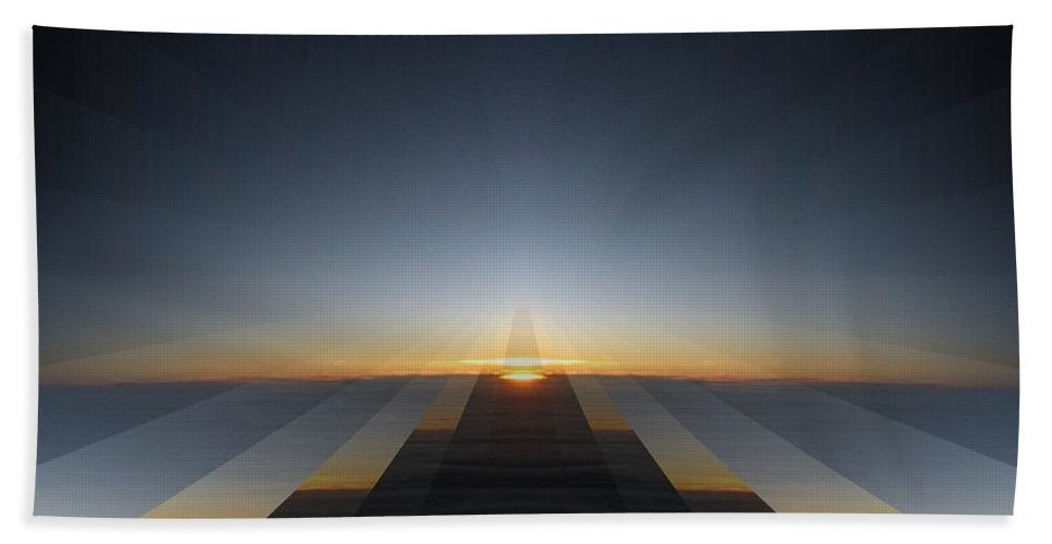 Sunrise Beach Towel featuring the digital art Sunrise From 30k 3 by Tim Allen