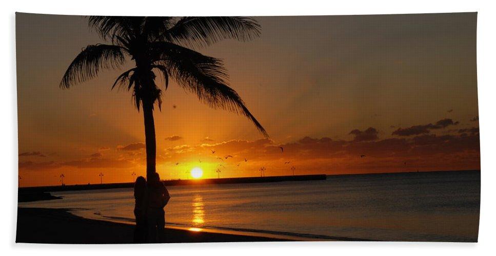 Sunrise Photos In Key West Fl Beach Towel featuring the photograph Sunrise in Key West FL by Susanne Van Hulst