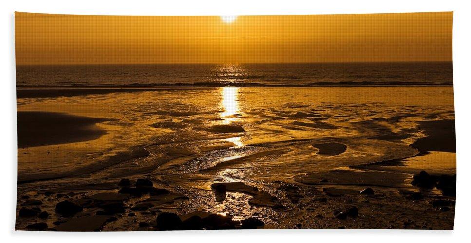 Dawn Beach Towel featuring the photograph Sunrise Over The Sea by Svetlana Sewell