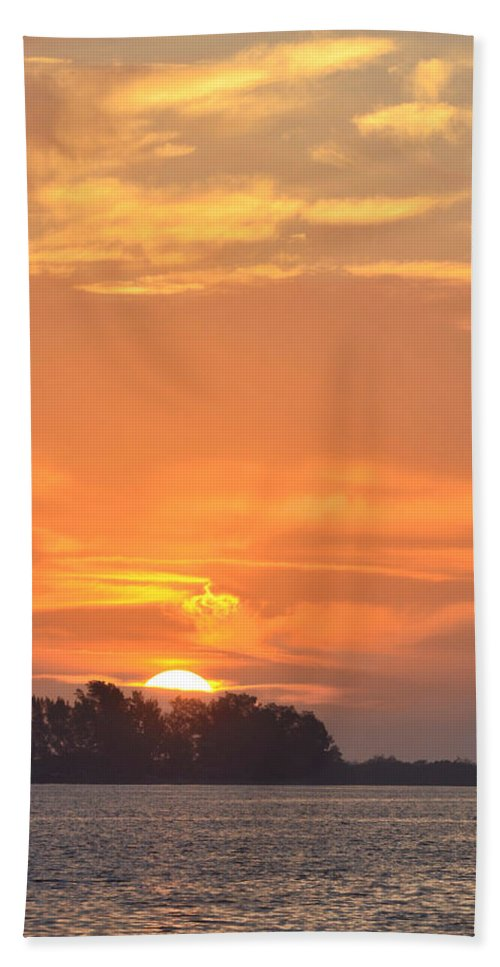 Sunrise Beach Towel featuring the photograph Sunrise Through Clouds 2451 by Dick Hopkins