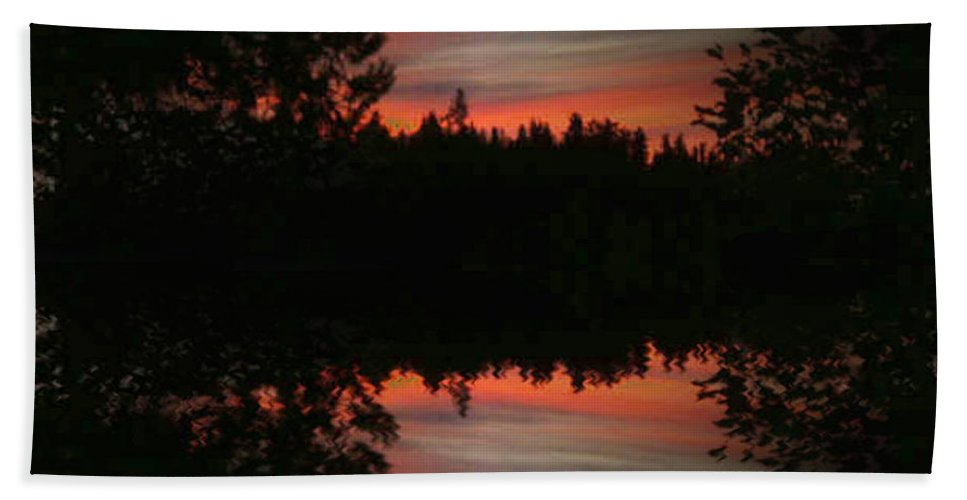 Sunset Beach Towel featuring the photograph Sunset 4 by Tim Allen