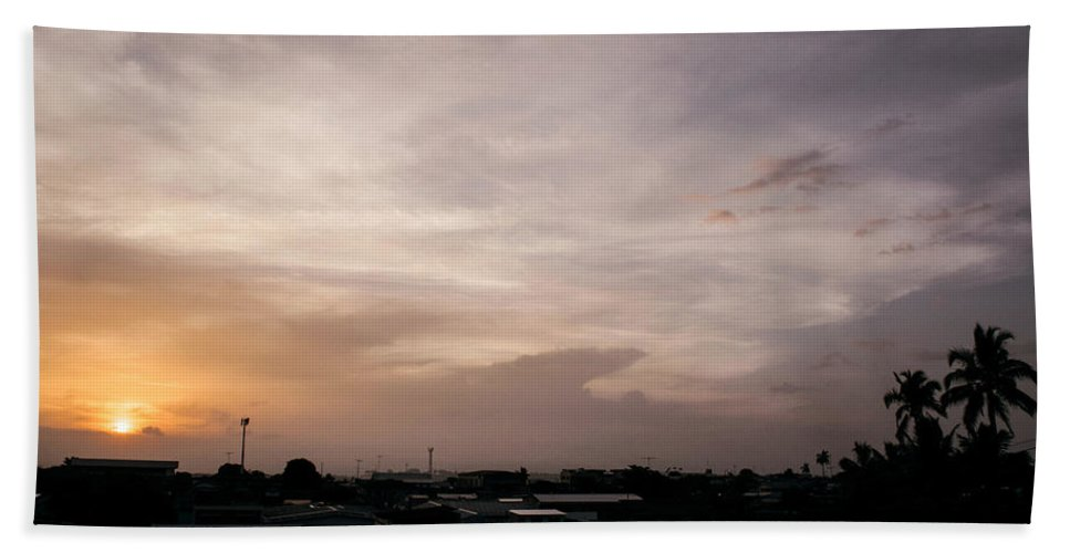 Ahuachapan Beach Towel featuring the photograph Sunset Ahuachapan 23 by Totto Ponce